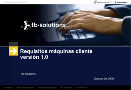 Requisitos máquinas cliente