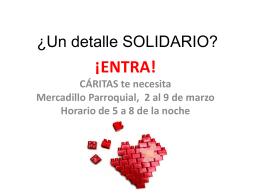 ¿Un detalle SOLIDARIO? - Parroquia San Miguel de Pamplona