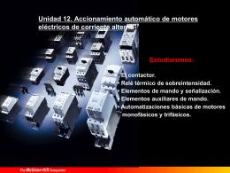 Accionamiento automático de motores eléctricos de corriente alterna