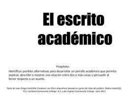 Guía para elaborar un escrito académico breve