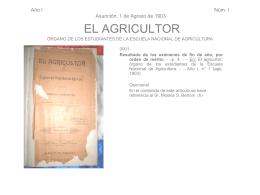 Analítica de la Revista El Agricultor