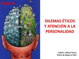 dilemas éticos y atención a la personalidad