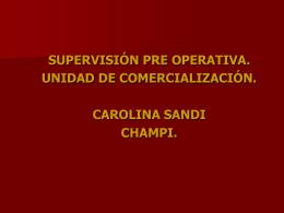 Supervision Pre Operativa Unidad De