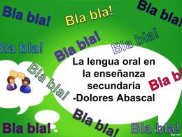 Oral. - Desarrollo de Competencias Lingüísticas