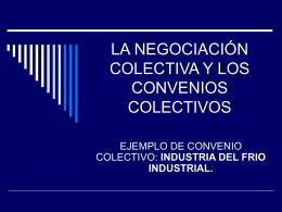 la negociación colectiva y los convenios colectivos