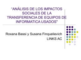 análisis de los impactos sociales de la transferencia de equipos
