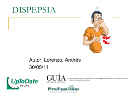Dispepsia  - Sanatorio San Carlos