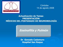 Diapositiva 1 - Sociedad de Neumonología de Córdoba