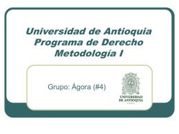Modos de Aprendizaje - Universidad de Antioquia