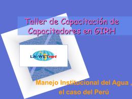Asociación Peruana del Agua GWP PERU - Cap-Net