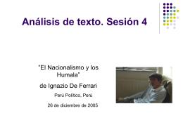 Análisis de texto. Sesión 4