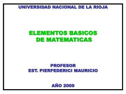 Diapositiva 1 - Mauricio Pierfederici