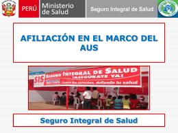 afiliacionAUS - Ministerio de Salud