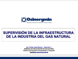 SUPERVISIÓN DEL TRANSPORTE DE GAS