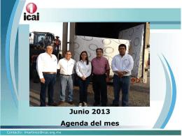 Junio 2013 Agenda del mes - RESI - Registro Estatal de Solicitudes