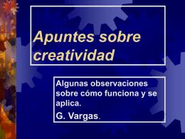 Presentación sobre creatividad