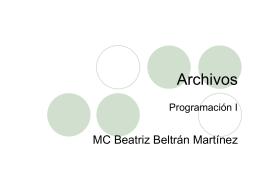 archivo - Beatriz Beltrán Martínez