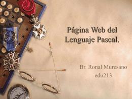 Lenguaje de Programación Pascal.