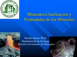 Rocas y Minerales - Recinto Universitario de Mayagüez
