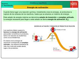 5 energía de activación