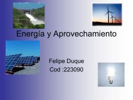 Energía y Aprovechamiento