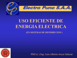 PROYECTOS DE AHORRO DE ENERGIA ELECTRICA