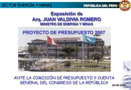 Ministerio de Energía y Minas - Congreso de la República del Perú