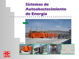 Autoabastecimiento Eléctrico Cogeneración de Energía Eléctrica y