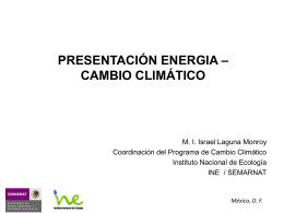 Presentación Energía - Proyecto Cambio Climatico