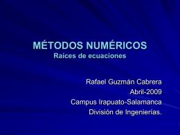 Metodos Numericos pres1 - División de Ingenierías Campus