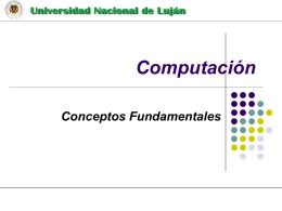 Computación Organización de Computadoras