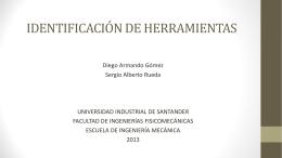 identificación de herramienta - Universidad Industrial de Santander