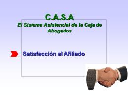 El sistema asistencial de la Caja de Abogados