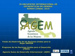 ix encuentro internacional de estadísticas de género. ronda