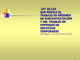 Ley 20.123