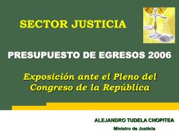 Ministerio de Justicia - Congreso de la República del Perú