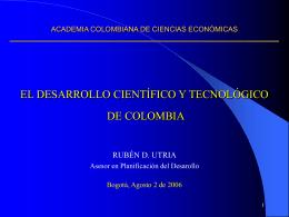Colombia visión 2019 - Academia Colombiana de Ciencias