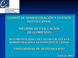 Presentación - Sistema Institucional de Gestión de la Calidad