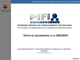 PresentacionReunion - Dirección de Planeación