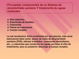 Principales componentes de un sistema de alcantarillado sanitario y