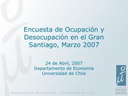 Presentación Informe Trimestral Empleo: Marzo 2007