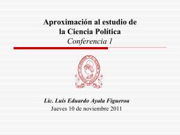 Conferencia 1 - Facultad de Jurisprudencia y Ciencias Sociales