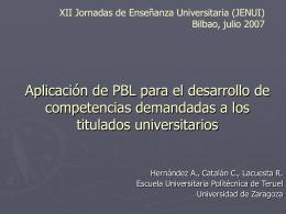 Aplicación de PBL para el desarrollo de competencias