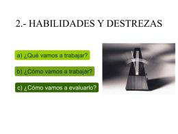 2.- HABILIDADES Y DESTREZAS