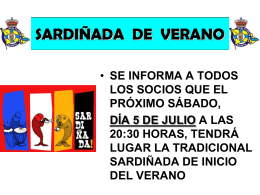 SARDIÑADA DE VERANO