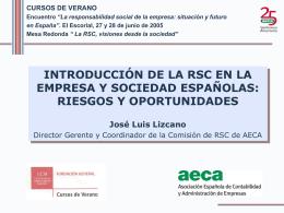 Riesgos y Oportunidades - Asociación Española de Contabilidad y
