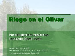 Riego en el Olivar - asesoramiento y servicios