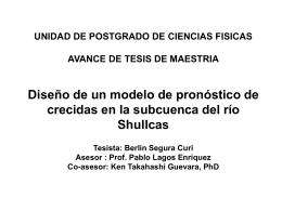 Avance Tesis-III  - Instituto Geofísico del Perú