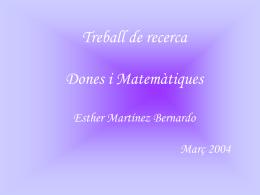 Dones i matemàtiques - IES Celestí Bellera