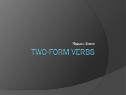 Two-Form Verbs